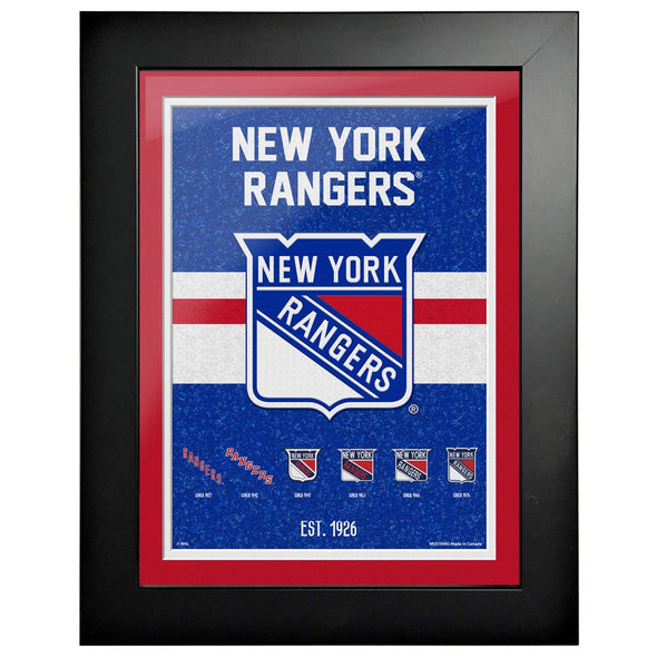 New York Rangers 12 x 16 Tradition Framed Sign