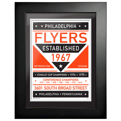 Philadelphia Flyers 12 x 16 Dual Tone Framed Sign