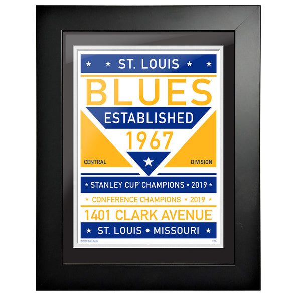 St. Louis Blues 12 x 16 Dual Tone Framed Sign