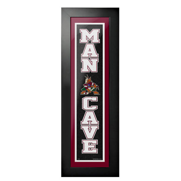 Arizona Coyotes 6x22 Man Cave Framed Sign