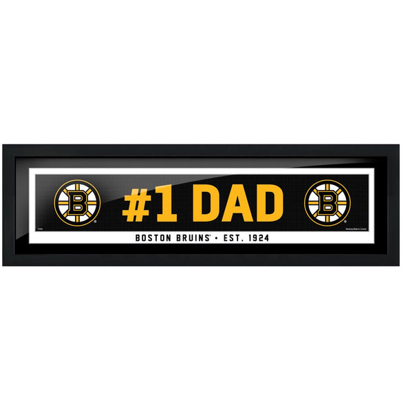 Boston Bruins #1 Dad 6x22 Frame