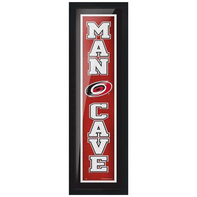 Carolina Hurricanes 6x22 Man Cave Framed Sign