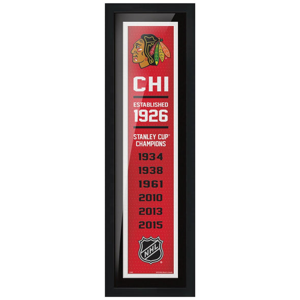 Chicago Blackhawks 6x22  Empire Framed Sign
