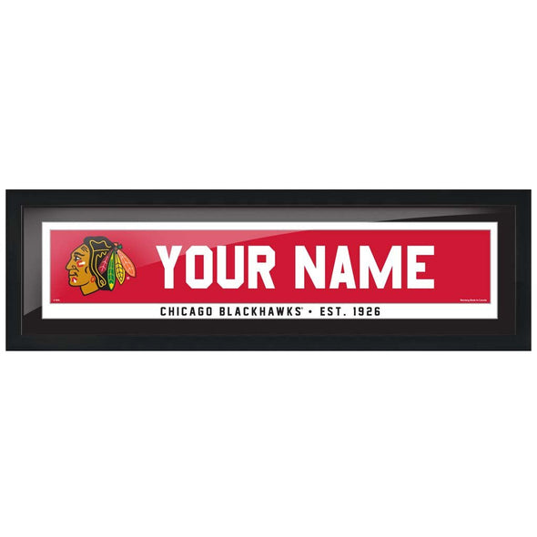 Chicago Blackhawks-6x22 Team Personalized Pic Frame