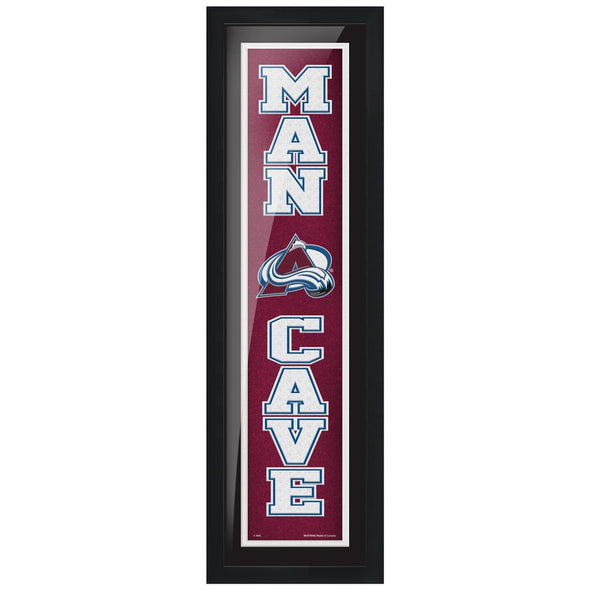 Colorado Avalanche 6x22 Man Cave Framed Sign