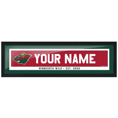 Minnesota Wild-6x22 Team Personalized Pic Frame