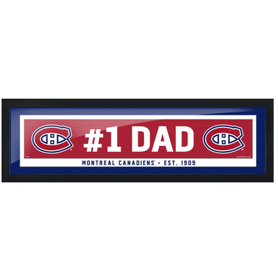 Montreal Canadiens #1 Dad 6x22 Frame