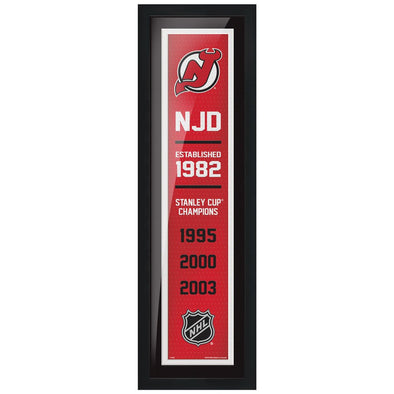 New Jersey Devils 6x22  Empire Framed Sign