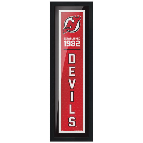 New Jersey Devils 6x22 Established Framed Sign