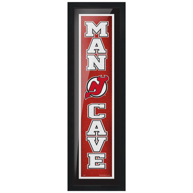 New Jersey Devils 6x22 Man Cave Framed Sign