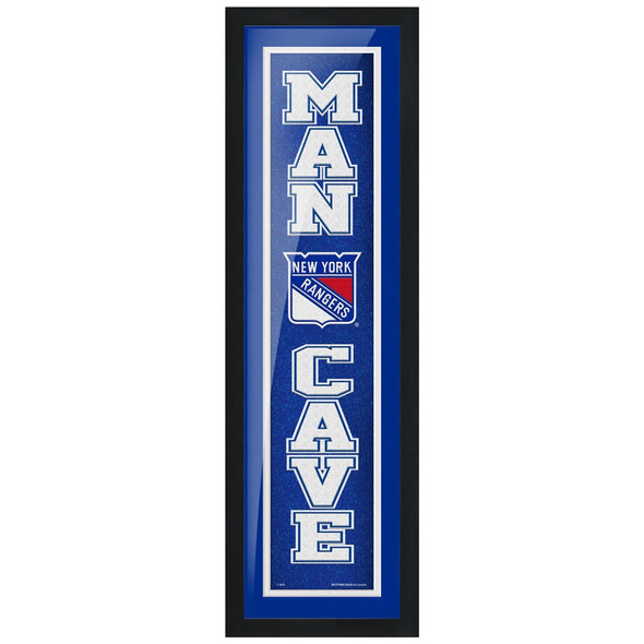 New York Rangers 6x22 Man Cave Framed Sign