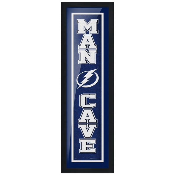 Tampa Bay Lightning 6x22 Man Cave Framed Sign