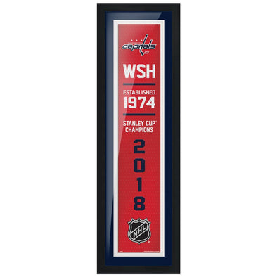 Washington Capitals 6x22  Empire Framed Sign