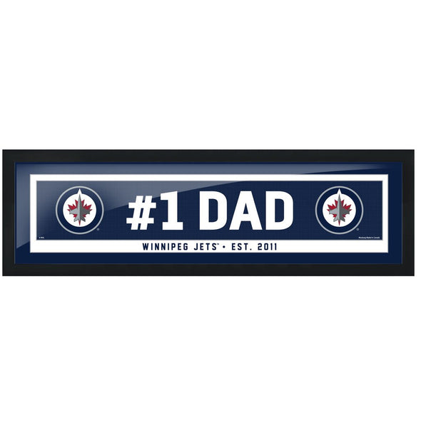 Winnipeg Jets #1 Dad 6x22 Frame