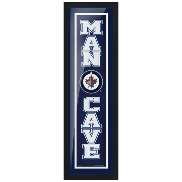 Winnipeg Jets 6x22 Team Man Cave Framed Artwork
