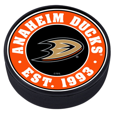 Ahaheim Ducks Established Textured Puck