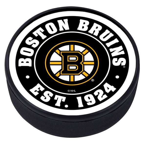 Boston Bruins Established Textured Puck