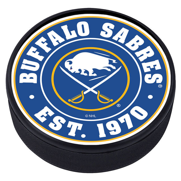 Buffalo Sabres Established Textured Puck
