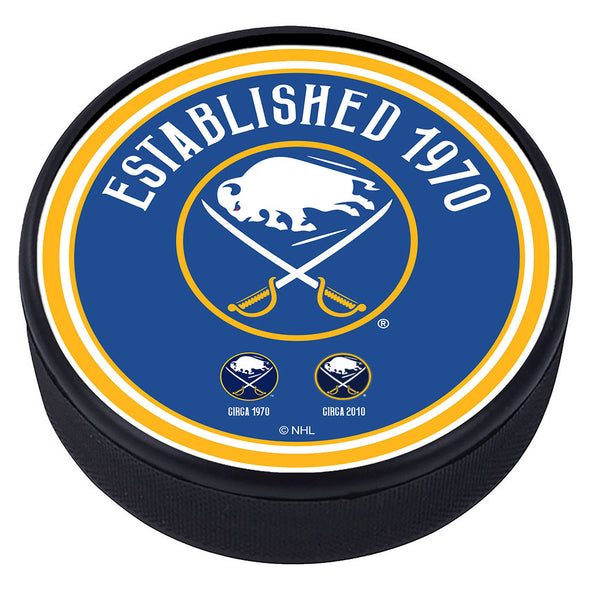 Buffalo Sabres Heritage Textured Puck
