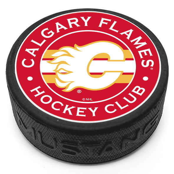 Calgary Flames Striped Puck