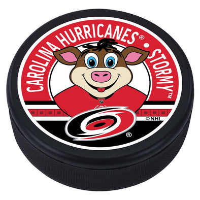 Carolina Hurricanes Stormy Mascot Textured Puck