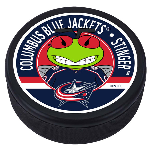 Columbus Blue Jackets Stinger Mascot Textured Puck