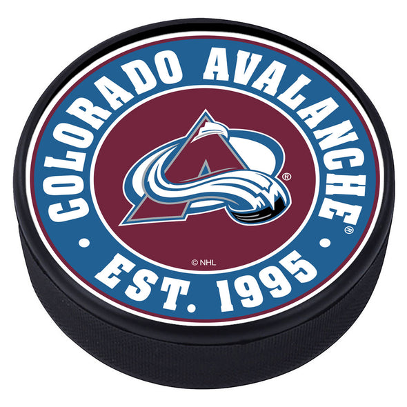 Colorado Avalanche Established Textured Puck