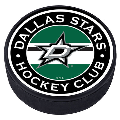 Dallas Stars Striped Puck