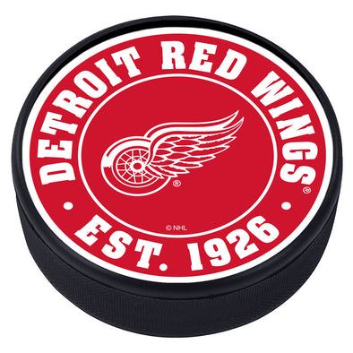 Detroit Red Wings Established Textured Puck