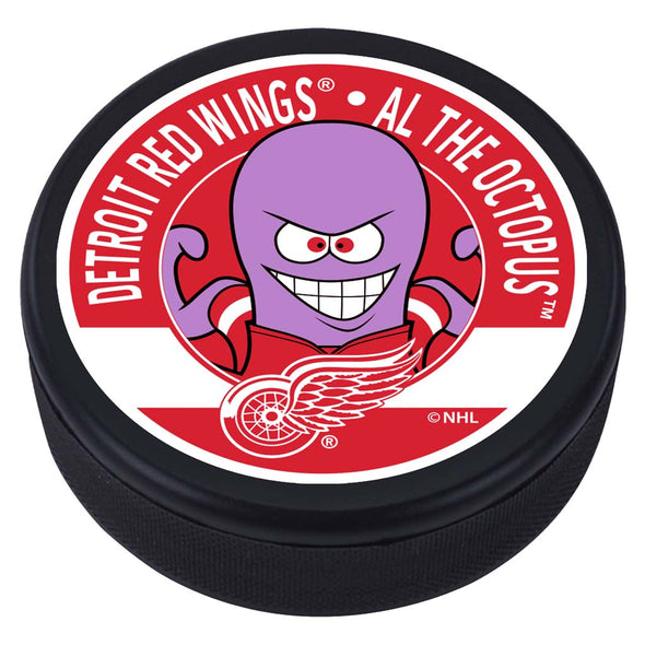 Detroit Red Wings Al The Octopus Mascot Textured Puck
