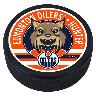 Edmonton Oilers Hunter Mascot Textured Puck