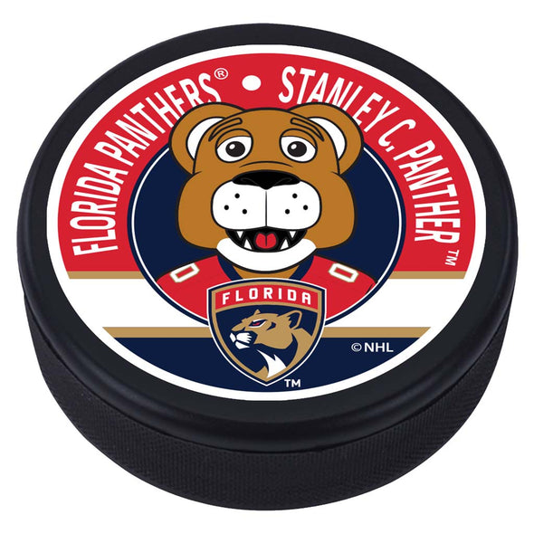 Florida Panthers Stanley C Mascot Textured Puck