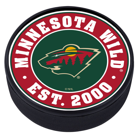 Minnesota Wild Established Textured Puck