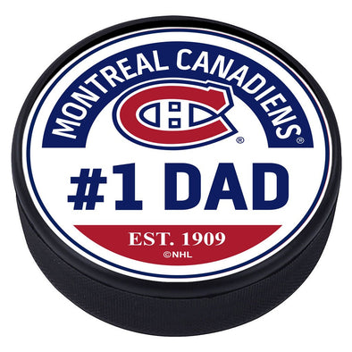 Montreal Canadiens #1 Dad Textured Puck