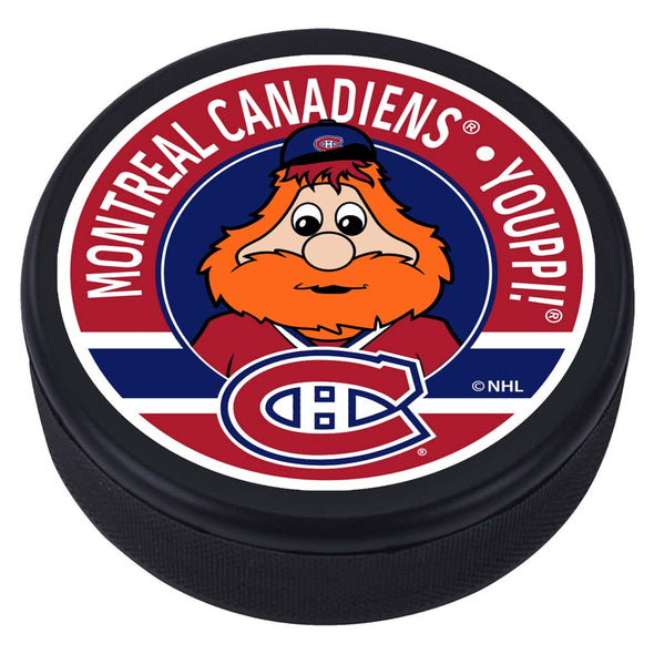 Montreal Canadiens Youppi Mascot Textured Puck
