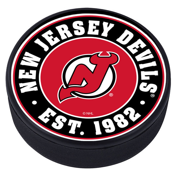 New Jersey Devils Established Textured Puck