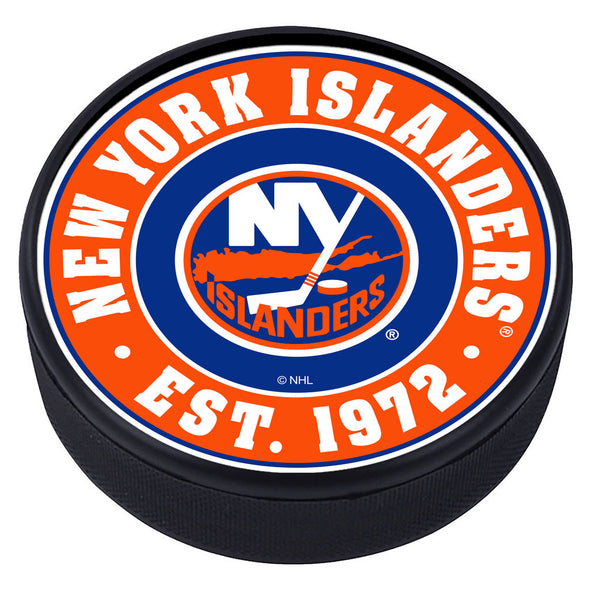 New York Islanders Established Textured Puck