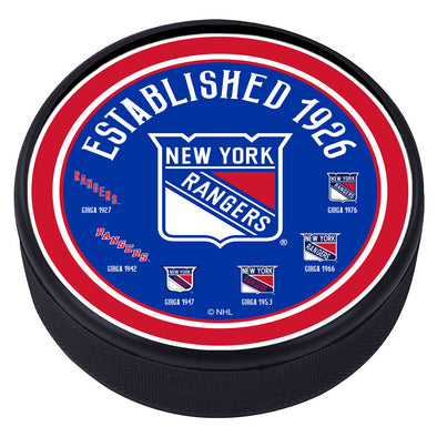 New York Rangers Heritage Textured Puck