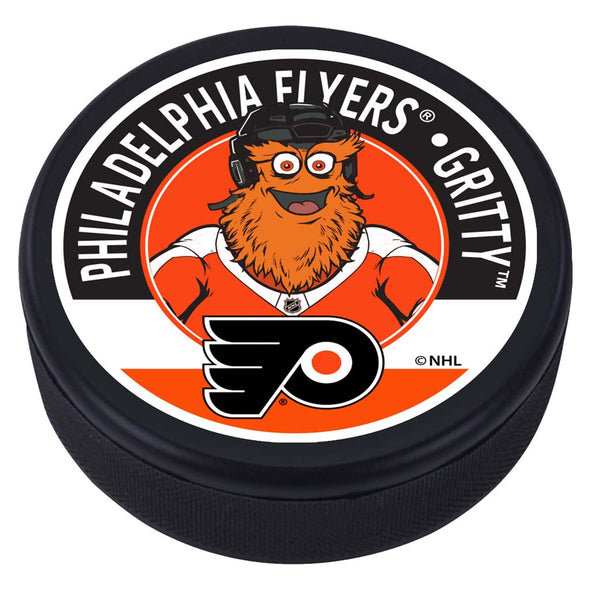 Philadelphia Flyers Gritty Mascot Textured Puck