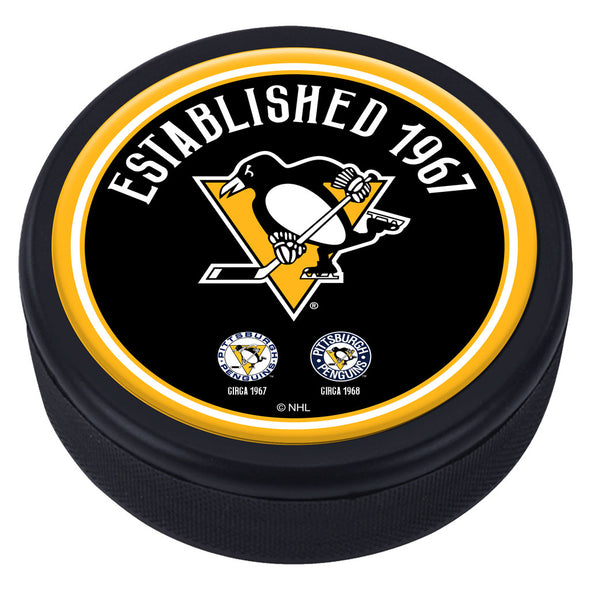 Pittsburgh Penguins Heritage Textured Puck