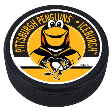 Pittsburgh Penguins Iceburgh Mascot Textured Puck