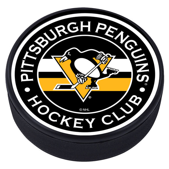 Pittsburgh Penguins Striped Puck