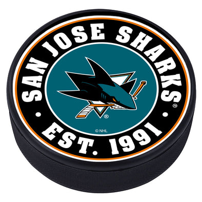 San Jose Sharks Established Textured Puck