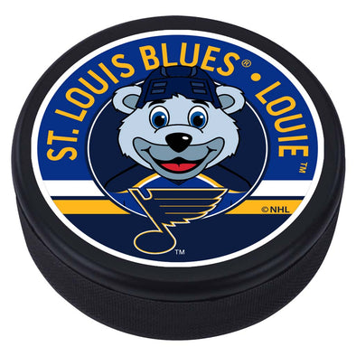 St. Louis Blues Louie Mascot Textured Puck