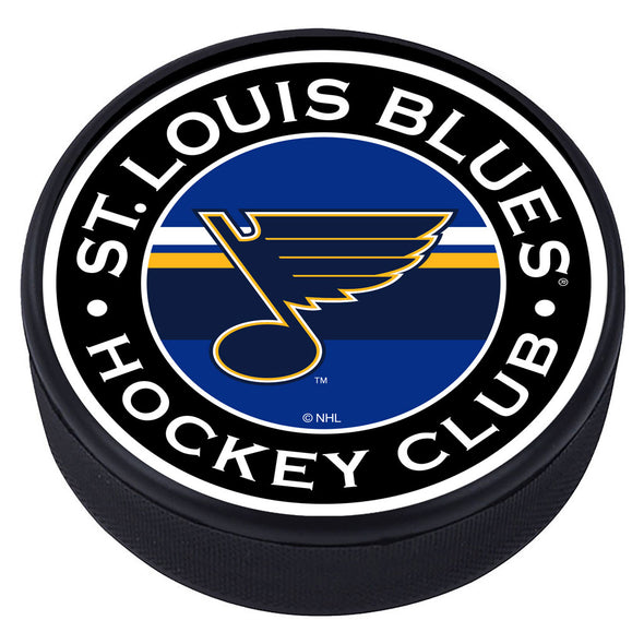 St. Louis Blues Striped Puck