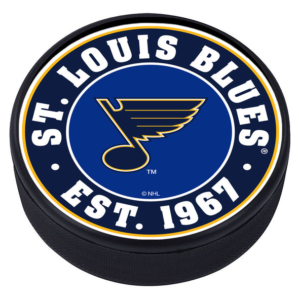 St. Louis Blues Established Textured Puck