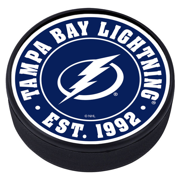 Tampa Bay Lightning Established Textured Puck