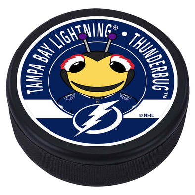 Tampa Bay Lightning Thunderbug Mascot Textured Puck