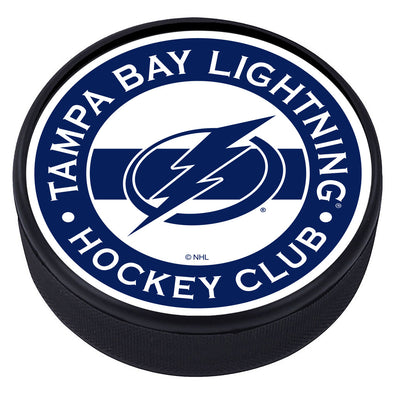 Tampa Bay Lightning Striped Puck