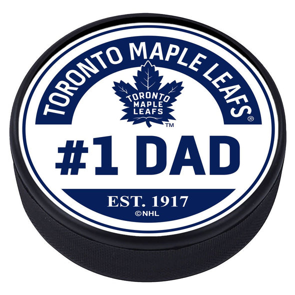 Toronto Maple Leafs #1 Dad Textured Puck